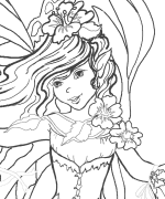 Blue water fairy colouring pages for Water fairy coloring pages